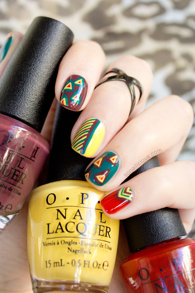 tribal nails opi brazil collection