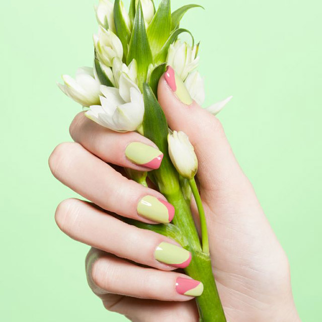 Two toned spring nails by Dawn Sterling;
