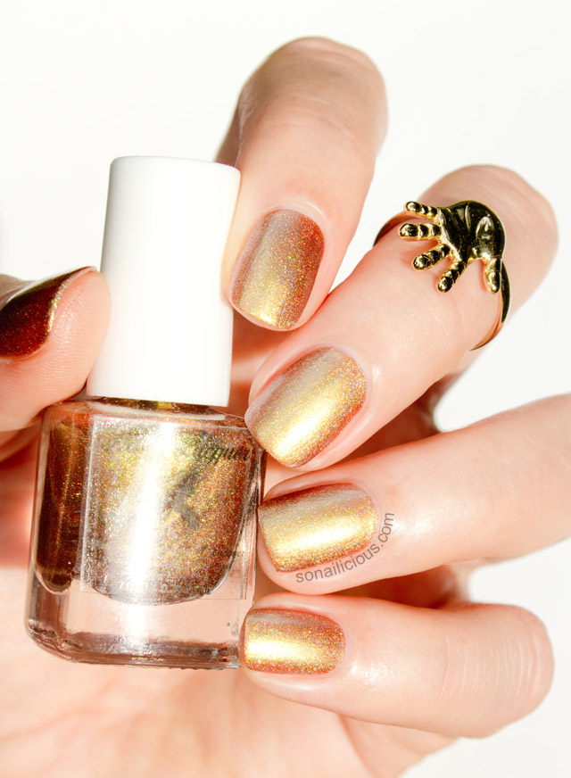Fun Lacquer Clover gold polish