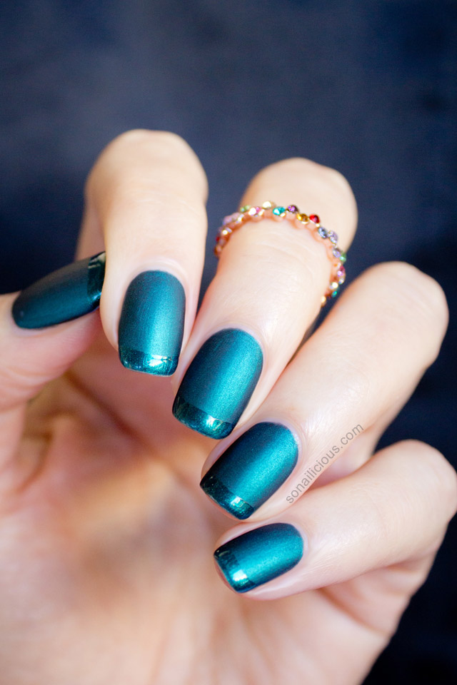 beautiful emerald nails - SoNailicious