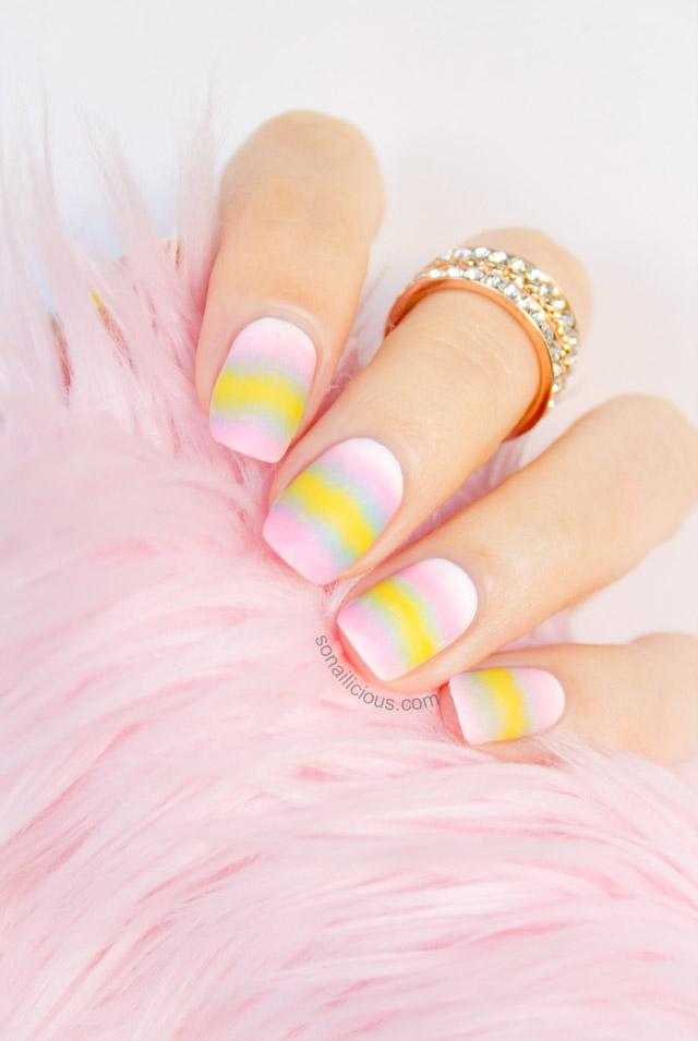 matte ombre pastel nails