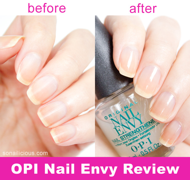 opi nail envy review before and after - SoNailicious