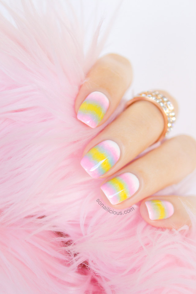 pastel ombre nails 1