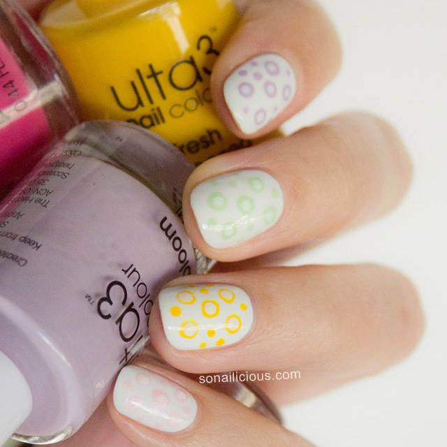 Pastel Polka Dot Nails with Ulta3 Polish
