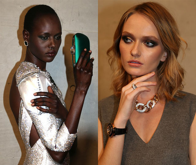 swarowski makeup nails 2014 australian fashion week