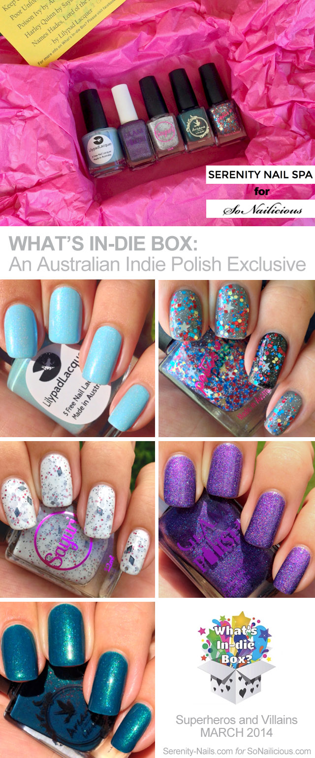 What's In-Die Box review, australian indie nail polishes