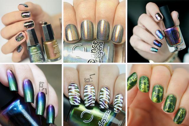chameleon nail polish nail designs