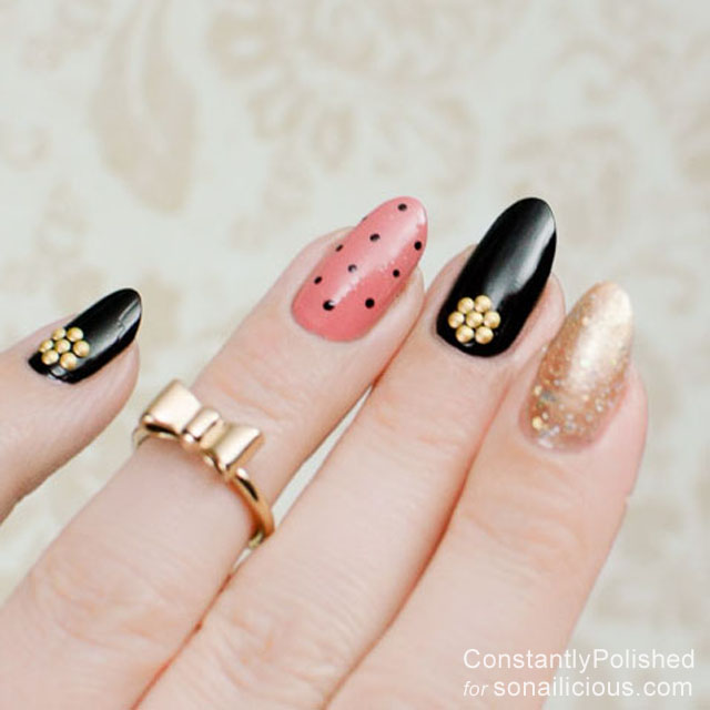 easy manicure ideas polka dot 2