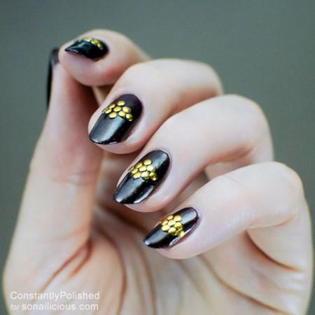 easy manicure ideas studs nails 8 – SoNailicious