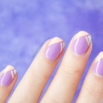 Geometric French Tip Nails – Tutorial