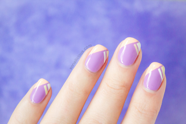 lilac french tip nails