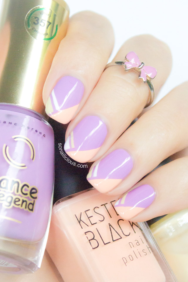 french tips nails tutorial - SoNailicious