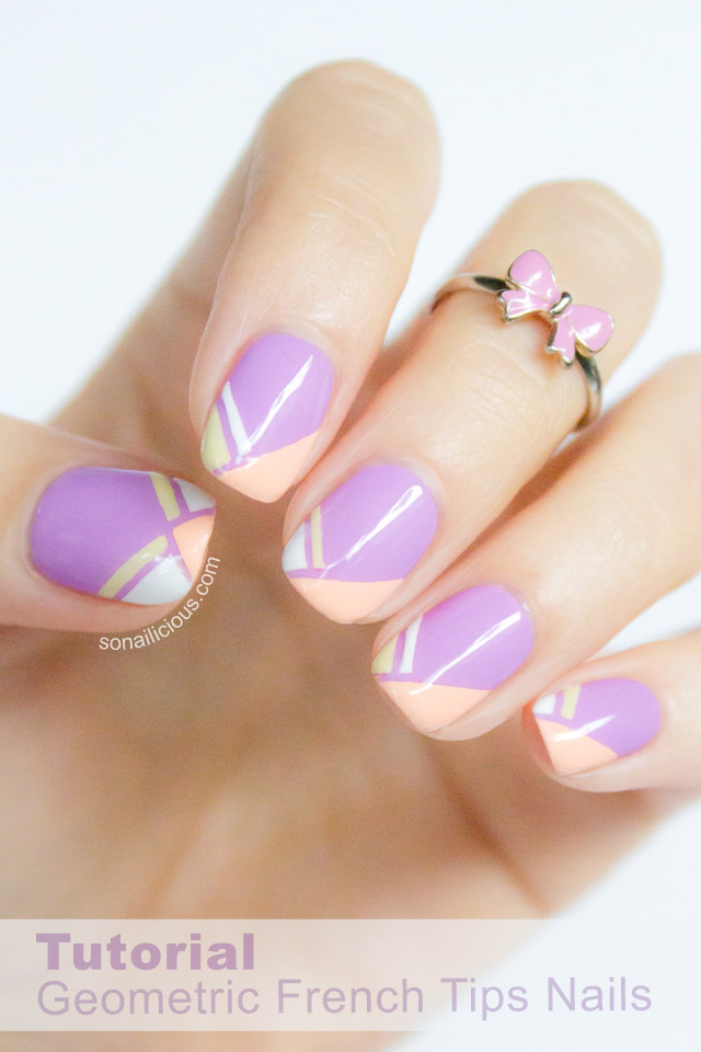 lilac french tip nails - SoNailicious