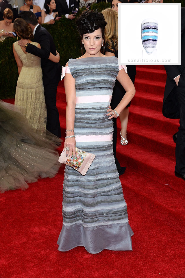 lily allen chanel dress met gala 2014