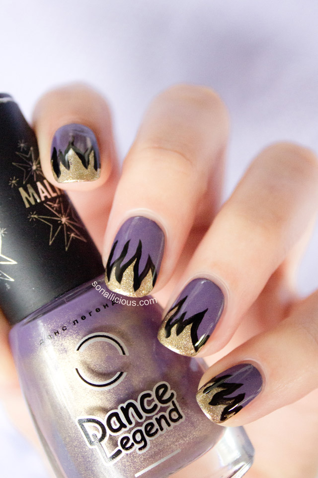 nails on fire hunger games nail design