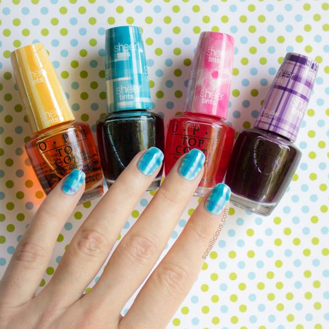 opi sheer tints review, swatches, nail art ideas - SoNailicious
