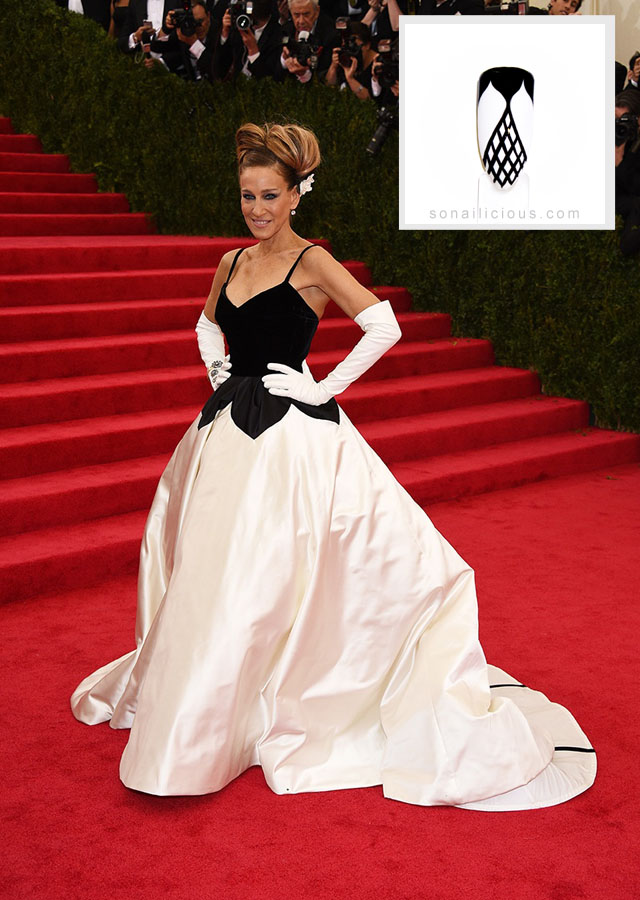 sarah jessica parker oscar dela renta dress Met Gala 2014