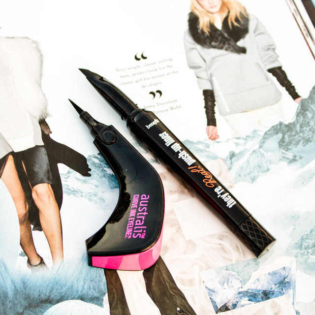 Easy To Use Eyeliner: Australis Curve Ink Eyeliner and Benefit They Are Real Push-up Liner