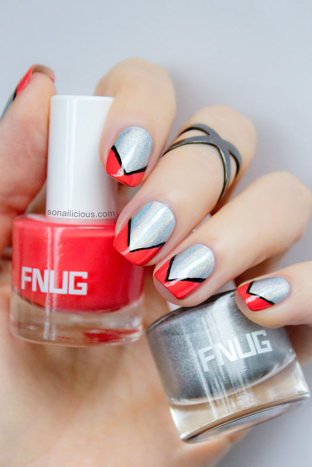 hologrpahic nail polish nail art