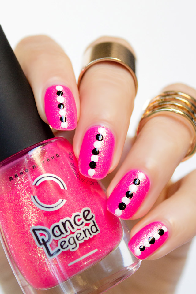Neon Pink Nails Dotticure Nail Art Tutorial Sonailicious