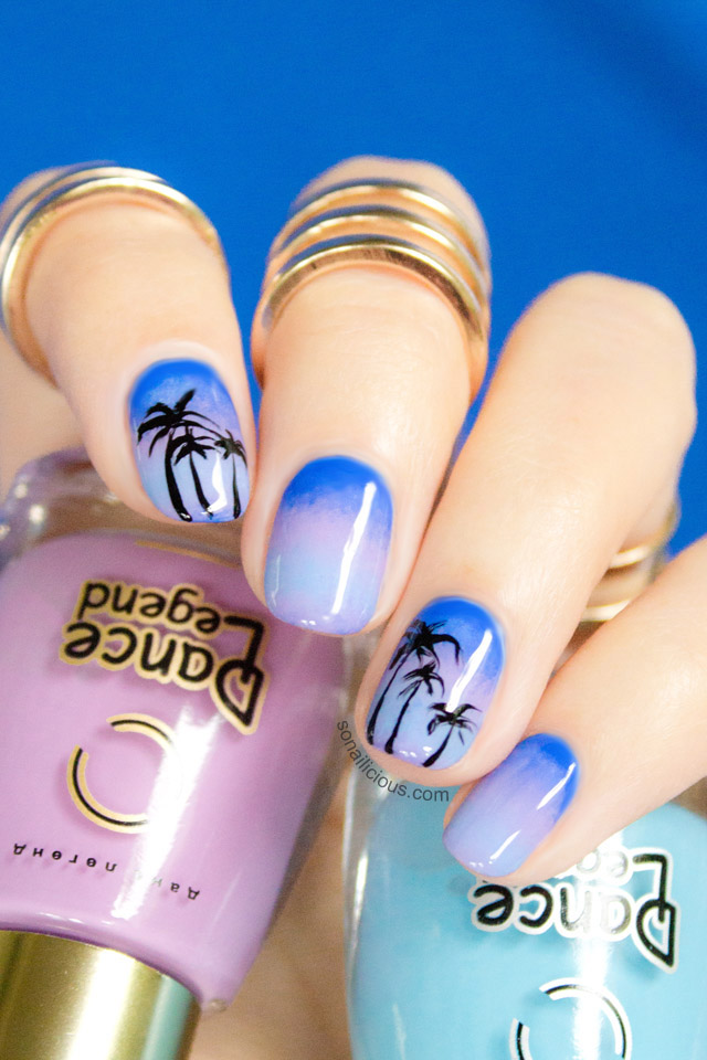 Ombre Beach Nails