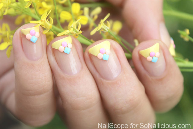summer french manicure tutorial