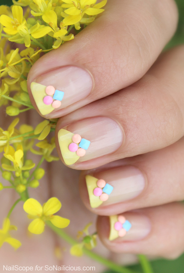 summer french manicure
