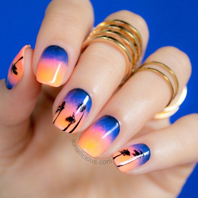 Epic Sunset Beach Nails inspired by an epic sunset. This is also a ...