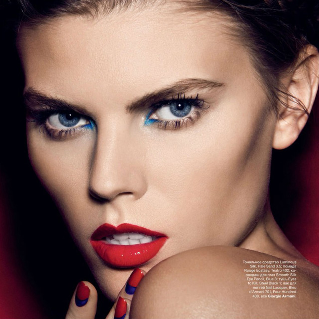 Ruffian red & blue nails, Allure Russia