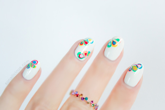 Rainbow Nails Drag Marble Nail Art Tutorial Sonailicious