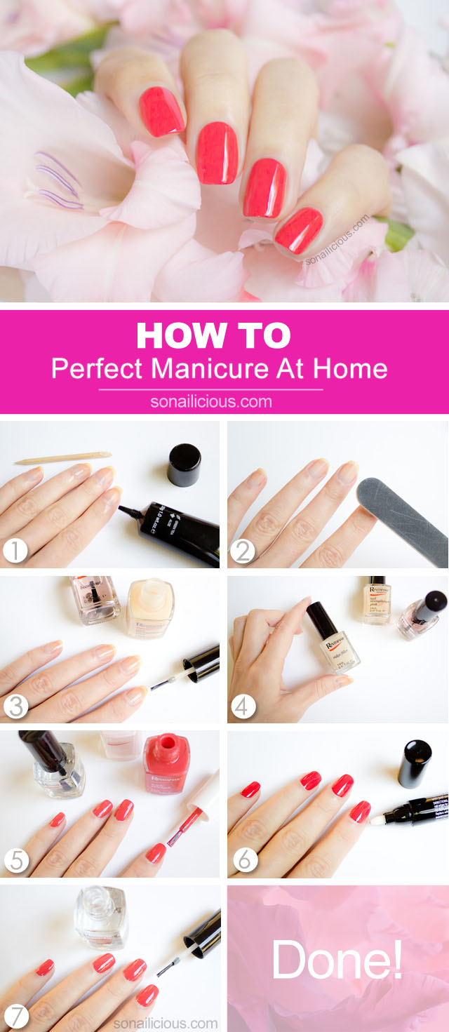 how to do manicure at home tutorial in pictures