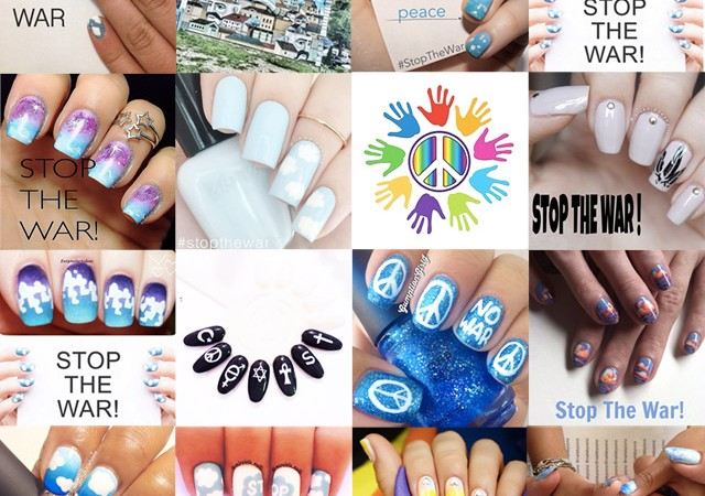nail bloggers protest against the war