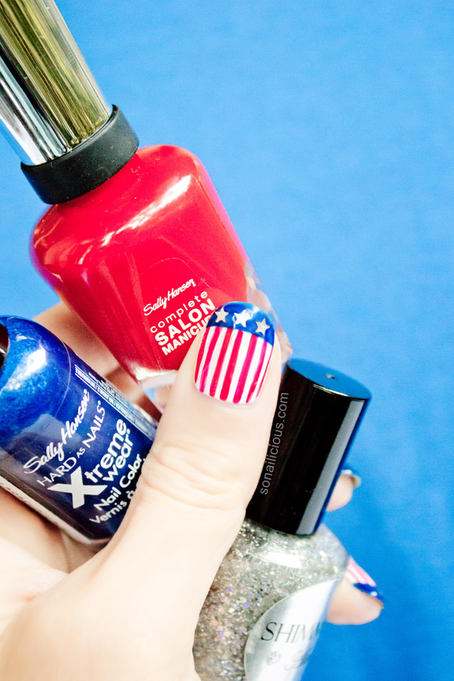 pretty 4th of july nail art