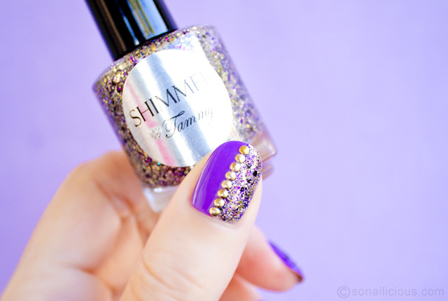 purple leopard nails