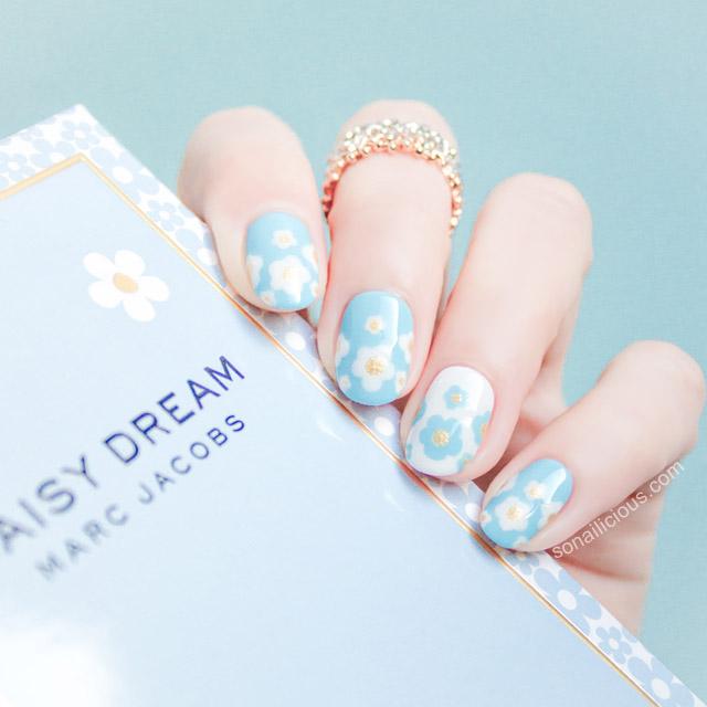 Marc Jacobs Daisy Dream Nail Art Sonailicious