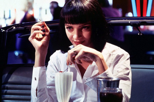 pulp fiction Mia Wallace dark red nails