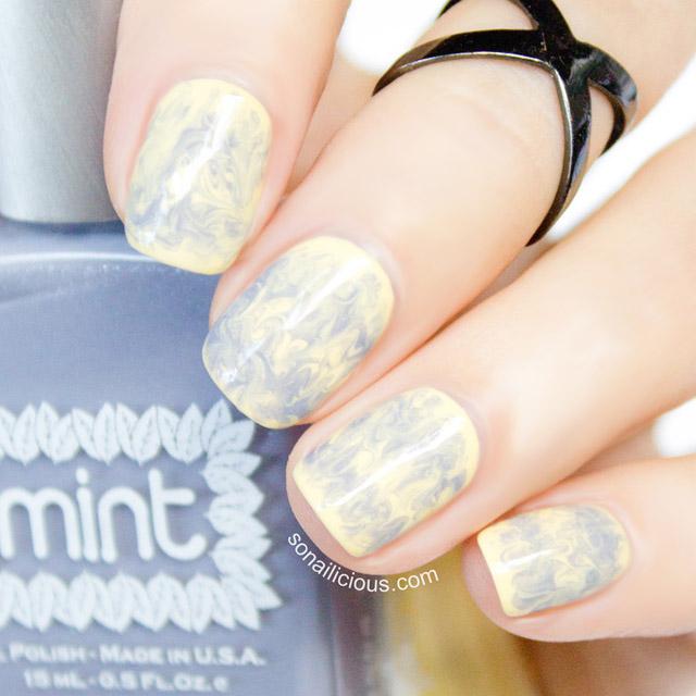 Cute Drag marble nails