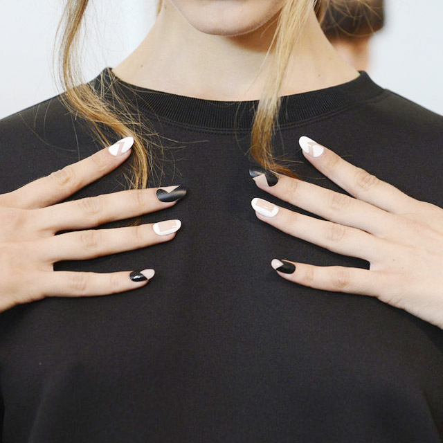 negative space nails Kye New York Fashion Week Spring 2015