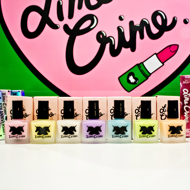 Lime Crime nail polish range