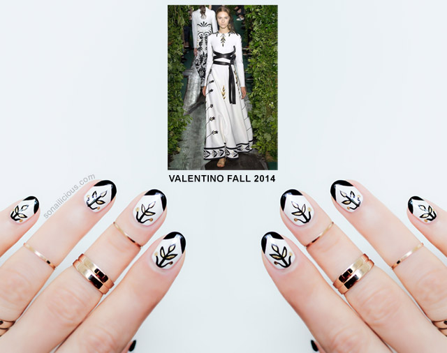 Valentino haute couture nails