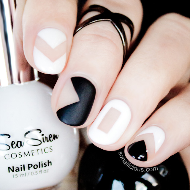 Art Tutorial Black And White Negative E Nails