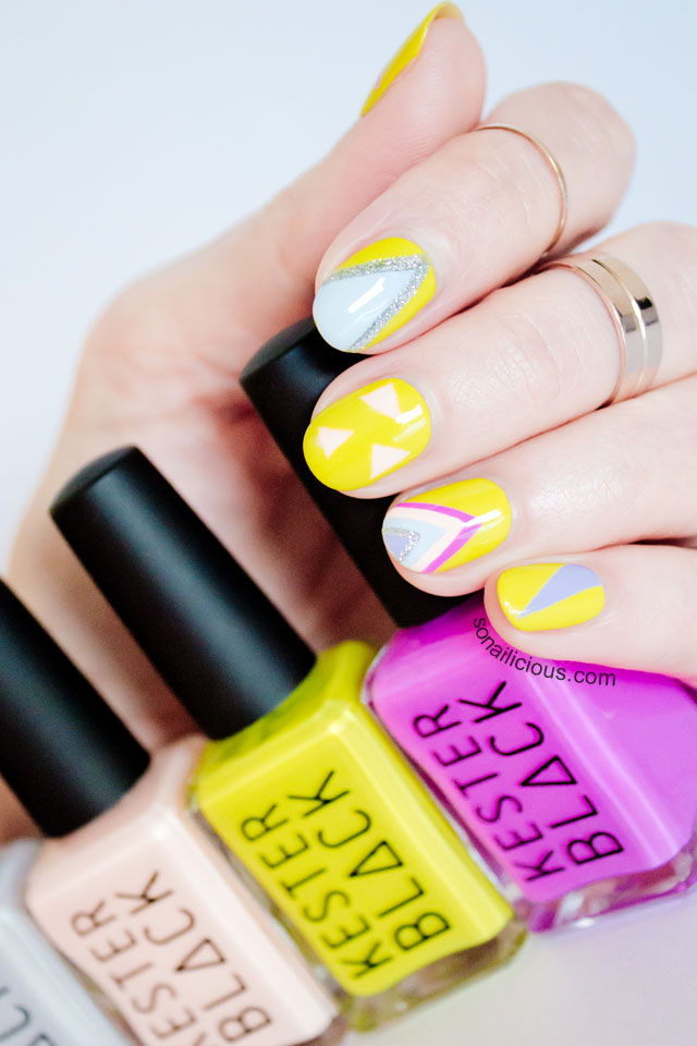 geometric nails with kester black