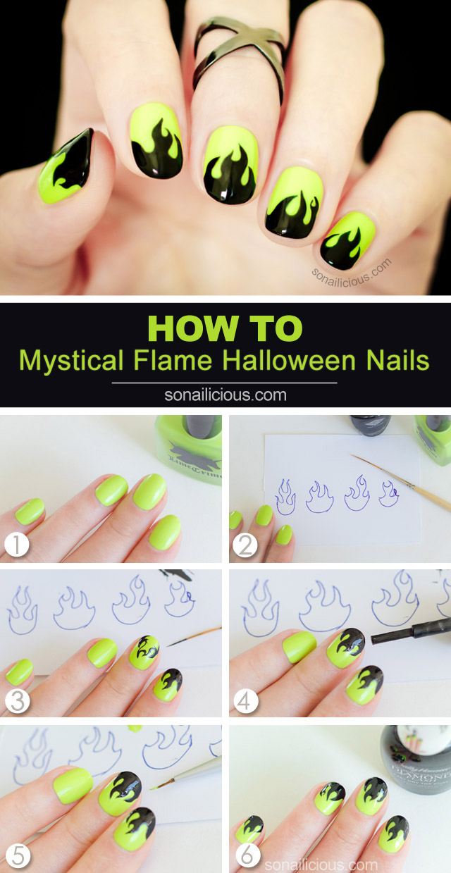 halloween nails tutorial