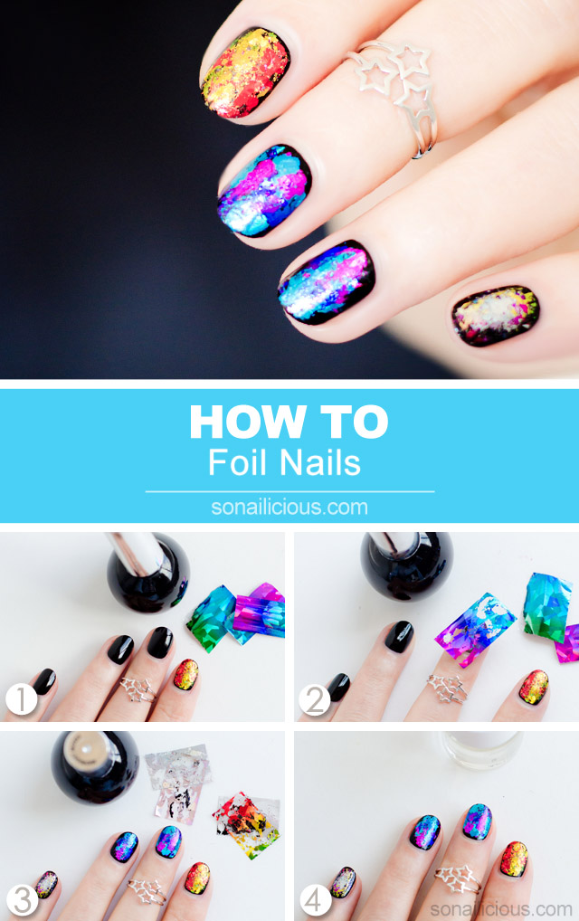 how to apply nail foils