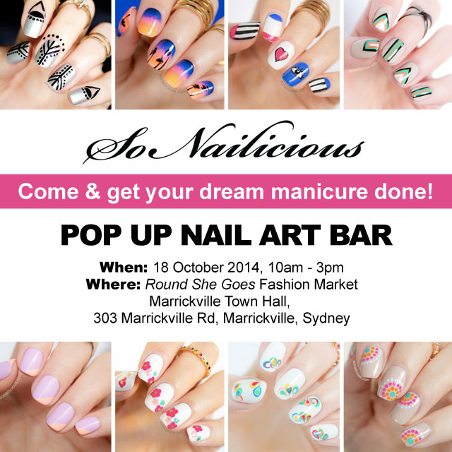 Sonailicious Pop Up Nail Bar