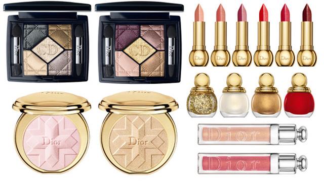 Dior Golden Shock makeup collection Holiday 2014