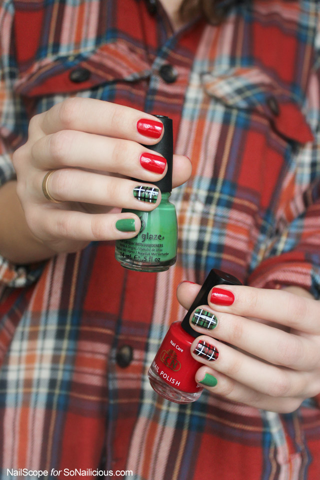 Plaid nail art tutorial prinsesfo Choice Image
