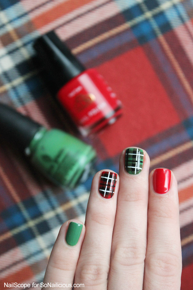 Plaid nail art tutorial plaid nail art prinsesfo Choice Image
