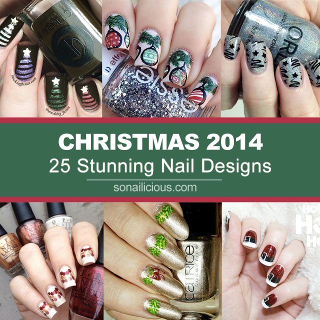 25 Stunning Christmas Nail Art Designs