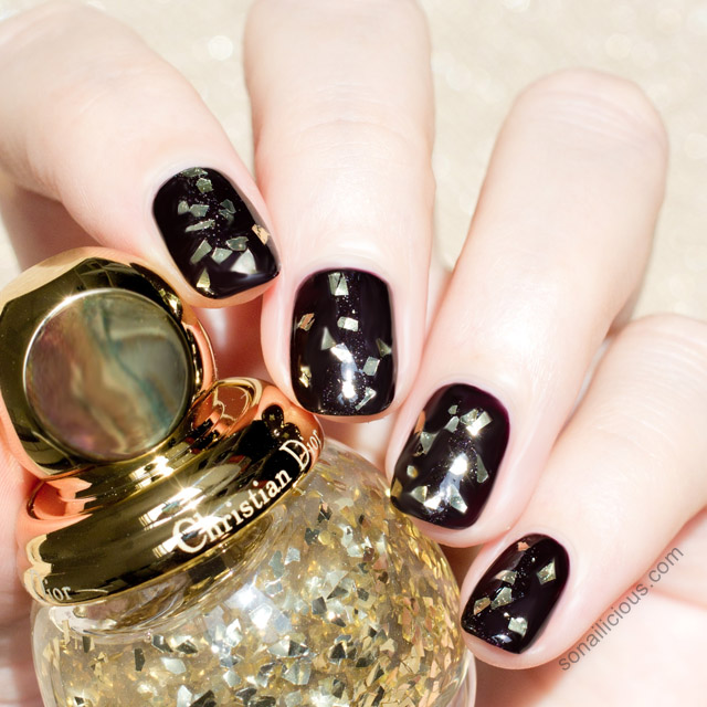 diorific vernis golden shock top coat swatch